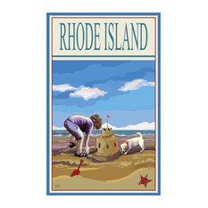 """Joanne Kollman Rhode Island Sand Castle Art Print, 24""""x36"""""""
