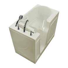 26 x 46 Left Drain Biscuit Soaking Walk-In Bathtub - Soaker Tub