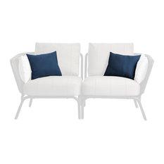 OASIQ YLAND Throw Pillow, Sapphire Blue