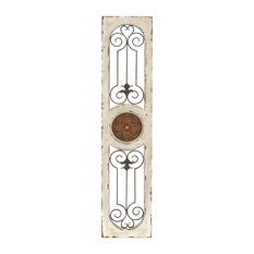 "Woodland Imports - Modern and Classic Wood Metal Wall Panel 58""H, 12""W Wall Decor Home Decor - Wall Accents"