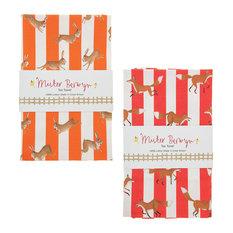 Fox and Rabbits Tea Towels, 2-Piece Set