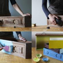 Un Portapiante per Balcone Fatto con Vecchi Cassetti di Recupero