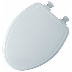 Elongated Toilet Seat Closed Front With Cover Easy Clean