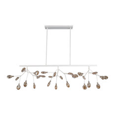 "Lacy 37"" Chandelier, White"