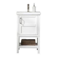 Bailey 20-inch Single Sink Bathroom Vanity Set White