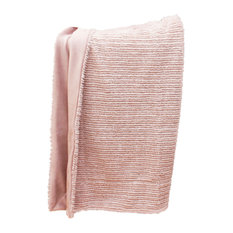 "50""x60"" Barni Faux Fur Decorative Throw, Rose Smoke"