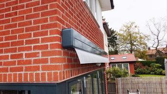 Contemporary awning install Chroler
