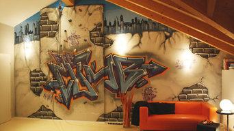 graffiti // Zuhause im Glück // Kletterwand