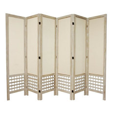 Tall Open Lattice Fabric Room Divider