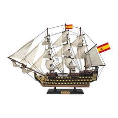 Santisima Trinidad Tall Ship Model 24, Model Tall Ship, Ship Model