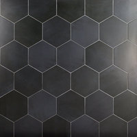 Langston Hexagon Dark Gray Matte Porcelain Floor and Wall Tile