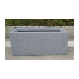 Window Box Light Concrete Planter, Naural Grey, Small