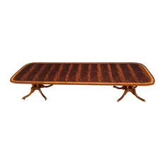Scallop Cornered Mahogany Dining Table By Leighton Hall