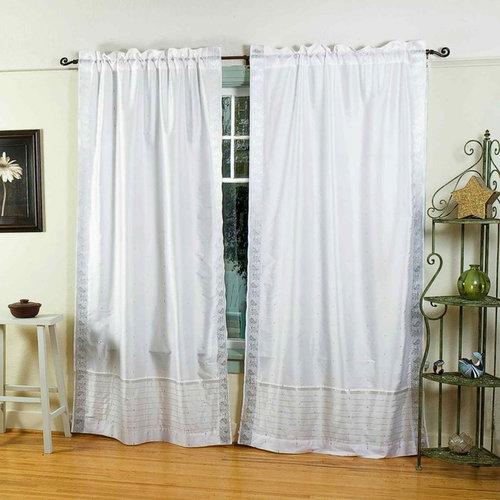Rod Pocket Sari Curtains Panels Ds