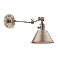 Garden City, One Light Wall Sconce, Swing Arm, Antique Nickel Finish