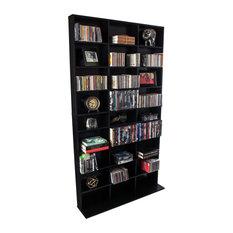 Elite Media Storage Cabinet Medium 837 Black