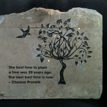 Stone Engraving by Striking Stone