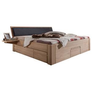 Jabo Furniture Multi N 92 Oak Bed With 2 Bedside Tables, Super King