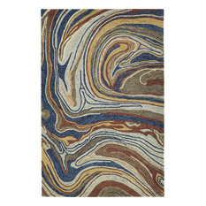 Kaleen Marble Multicolor color Hand-Tufted Rug, 8'x11'