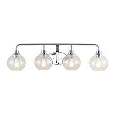 Sandrine Iron LED Vanity Light , Chrome, 4 Bulb