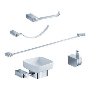 Fresca FAC1300 Solido 5-Piece Bathroom Accessory Set, Chrome
