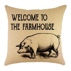 Farmhouse Burlap Pillow