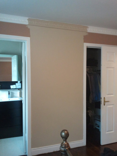 Ceilings Are Only 8 Feet So Really Don T Need The Moulding But Stuck With It Tried Painting Wall Color As Per Photo Thoughts On Next Steps