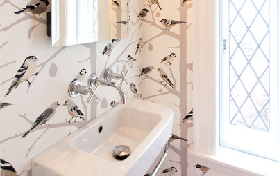 Room of the Day: Tiny Powder Room With a Treehouse Feel