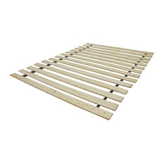 Classic Brands LLC - Classic Brands Attached Solid Wood Bed Support Slats, Bunkie Board, Twin - Bed Frames