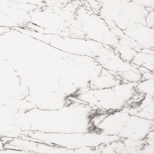 Arabescato Veined White Marble Effect Polished Tiles, 590x590 mm, 1 m2