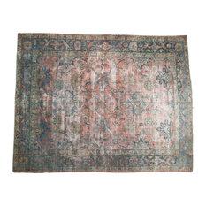 "RESERVED 10.5x13.5 Vintage Distressed Mahal Carpet, 10'6"" x 13'4"""
