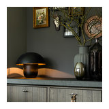Modern Dome Table Lamp 40cm Black with Gold - Canta