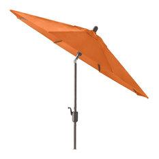 9' Round Push Tilt Market Umbrella, Sunbrella, Tuscan