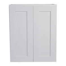 """Brookings Unassembled Shaker Tall Wall Kitchen Cabinet 24"""", White"""