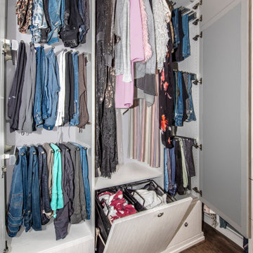 Walk-In Closet with Built-in Hamper