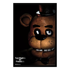 Five Nights At Freddy's Freddy Poster, Black Framed Version