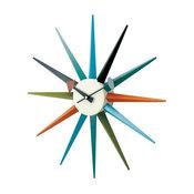 Classic Wooden Sunburst Clock