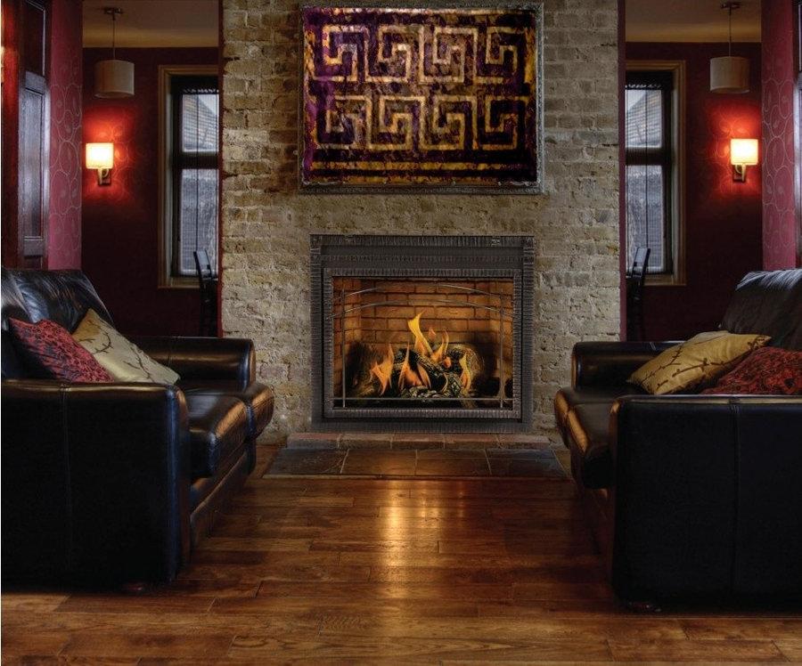 Fireplace- Greek Key mantle focal point