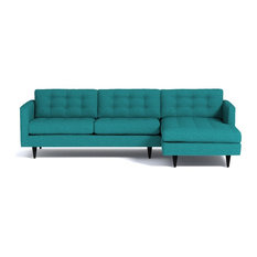 Apt2B - Beverly 2 Piece Sectional Sofa, Ocean Blue, Chaise on Left - Sectional Sofas