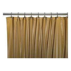 "72"" X 72"" 8 Gauge Hotel Collection Vinyl Shower Curtain Liner, Gold"