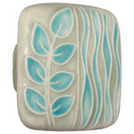 Acorn Manufacturing - Square Ceramic Branch and Seagrass Knob, Gray and Turquoise - Even the smallest details can help transform the personality of a space. Dress up your cabinetry and give your room a colorful update with the Square Ceramic Branch and Seagrass Knob. Made of ceramic in a lovely gray and turquoise seagrass design, it's as sturdy as it is attractive and fits gorgeously alongside modern or eclectic style decor.
