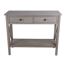 """Privilege Oyster 2 Drawer Console Table, 36""""x14""""x29.5"""""""