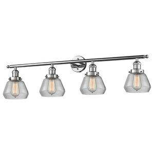 Innovations Fulton 4-Light Dimmable LED Bathroom Fixture, Polished Chrome