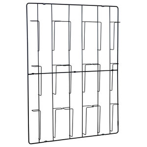 Frame-9 Magazine Rack, Matt Black