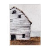 "Kieragrace Providence Fletcher Wall Art, Right, Painted Barn, 24.5""x18.5"""