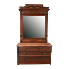 Consigned Antique Eastlake Vanity Dressing Table 1890