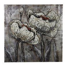 Flower Design Canvas Oil Painting