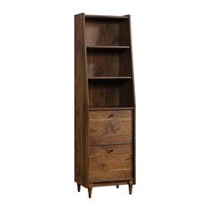 Sauder Harvey Park 3-Shelf Narrow Bookcase, Grand Walnut