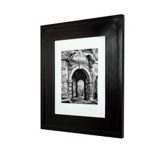 """Concealed Picture Frame Medicine Cabinet, Black, 14""""x18"""""""