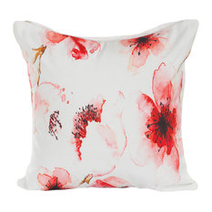 Floral Water Color Indoor/Outdoor Throw Pillow